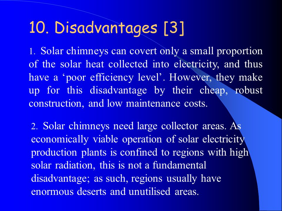 10. Disadvantages [3]